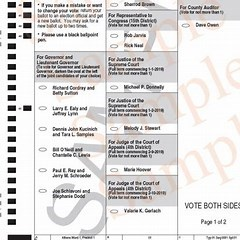 Sample absentee ballot